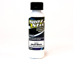 Spaz Stix - SOLID WHITE / BACKER AIRBRUSH PAINT 2OZ - The R/C House