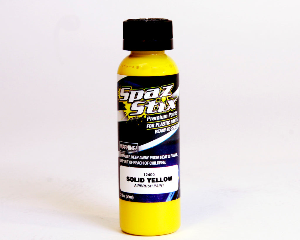 Spaz Stix - SOLID YELLOW AIRBRUSH PAINT 2OZ - The R/C House