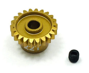 Trinity - Ultra Lightweight Aluminum Pinion Gear, Thin, 48 Pitch, 22 Tooth