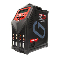 Venom - Pro Quad 100W 7A 4-Port AC/DC LiPo, LiHV & NiMH Battery Balance Charger - The R/C House