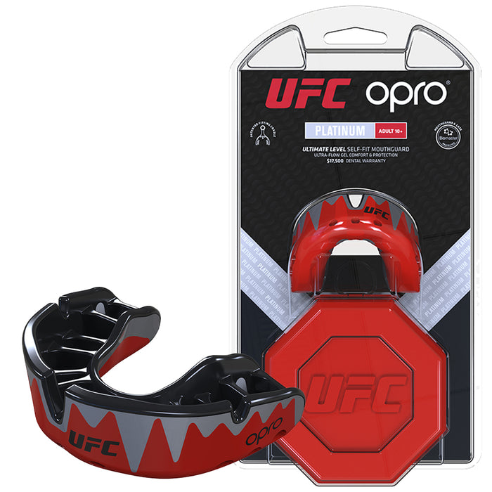 UFC Platinum Fangz Mouthguard by Opro - Sold Individually