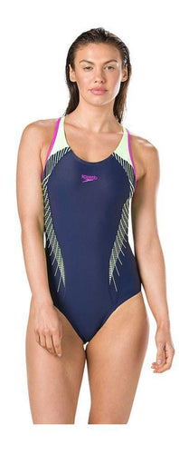 Speedo Fit Laneback Swimsuit