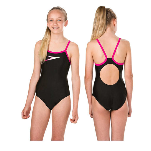Speedo Boom Placement Muscleback Swimsuit Girls