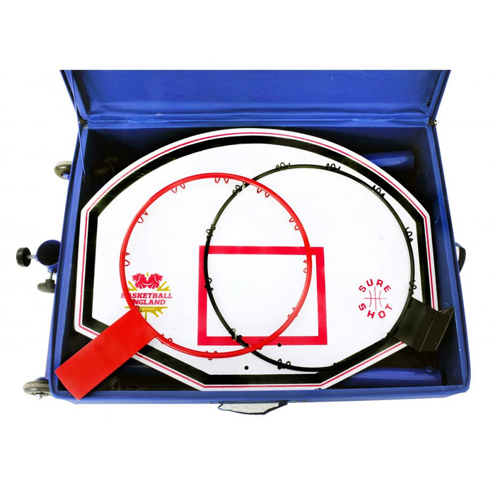 Sure Shot Compact Netball/Basketball Hoops Combo Unit with Pole Padding - 63540