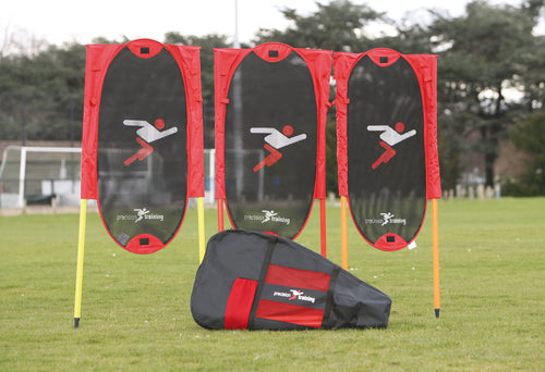 Precision Training Folding Free Kick Man Kit + poles