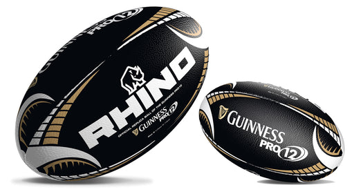 Rhino Guinness Pro12 Black Supporters Rugby Ball