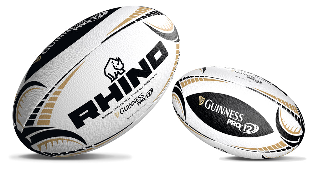 Rhino Guinness Pro12 White Replica Rugby Ball