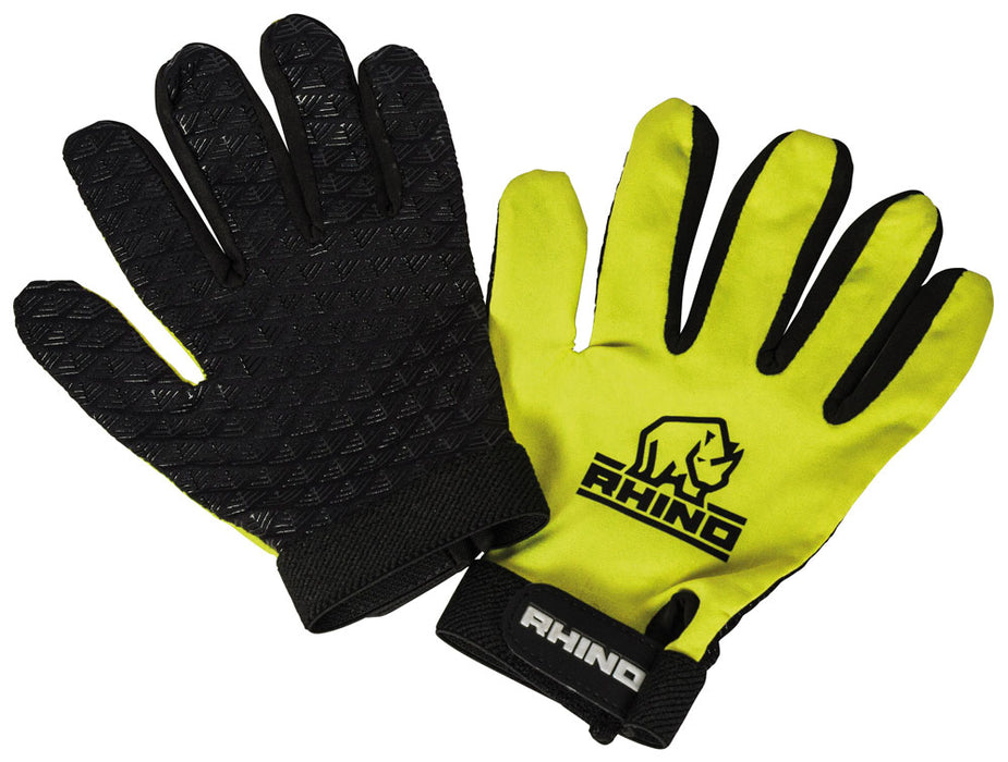 Rhino Pro Full Finger Mitts Yellow