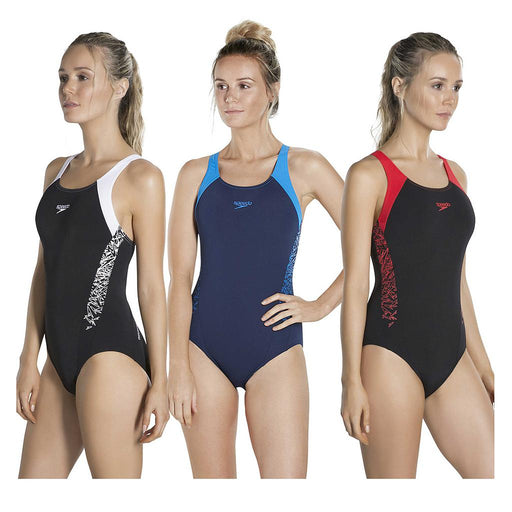 Speedo Boom Splice Muscleback Swimsuit