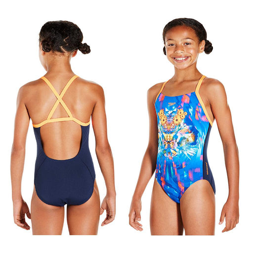 Speedo Girls Dreamscape Fusion Placement Crossback Swimsuit