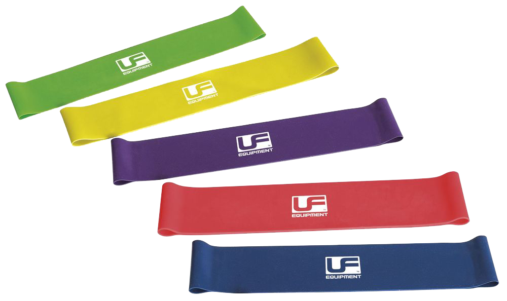 UFE Resistance Band Loop (Set of 5 - 1 of each colour) 10""