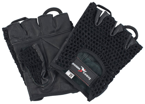 Precision Training Leather Weightlifting Gloves