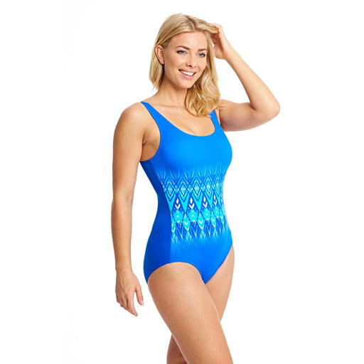Zoggs Hydrolife Aqua Reef Scoopback Swimsuit