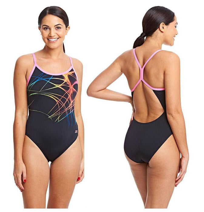 Zoggs Aqualast Flame Sprintback Swimsuit