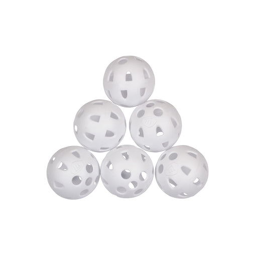 Masters Airflow Practice Balls White (Pack of 6)