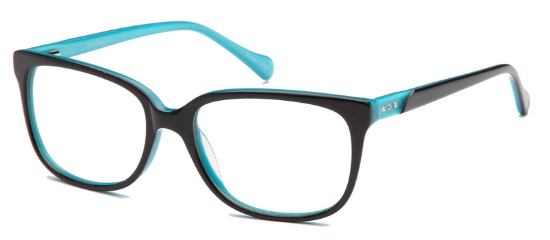 DALIX Womens Cateye Prescription Rxable Eyeglasses Frames Size 53-16-140-39 Eyewear DALIX Black-Blue