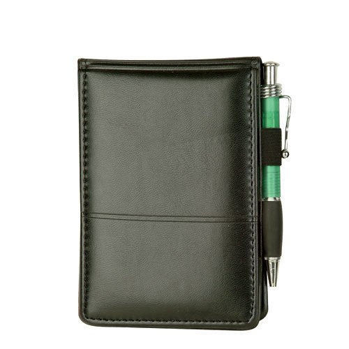 Executive Jotter Notepad Organizer with Business Card Slots and Pen Holder