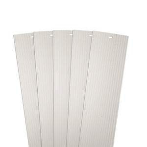 "DALIX Ribbed Vertical Blinds Replacement Slats Ivory Vinyl Window 5 Pack Blinds DALIX Ivory 10.5"" Inches Height"