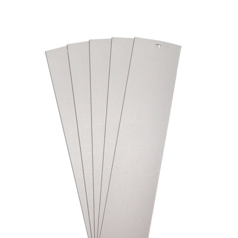 "DALIX Chaparral Replacement Blinds Vertical Window Slats Panel Gray 5 Pack Blinds DALIX Gray 10.5"" Inches Height"