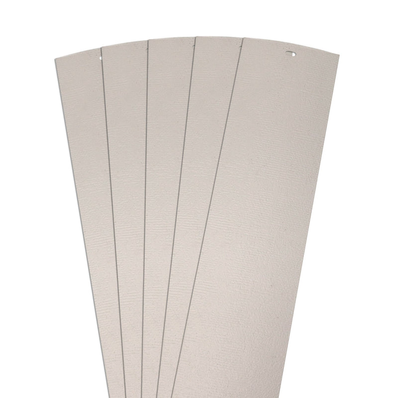 "DALIX Chaparral Replacement Blinds Vertical Window Slats Panel Ivory 5 Pack Blinds DALIX Ivory 10.5"" Inches Height"