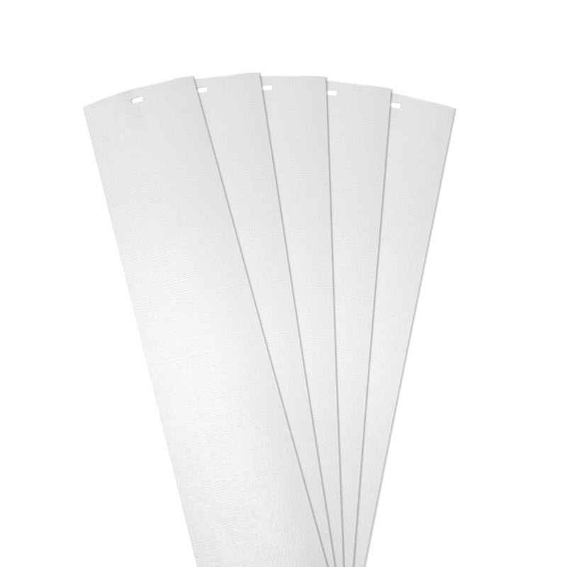 "DALIX Chaparral Vertical Window Blinds Replacement Slats White 5 Pack Blinds DALIX White 10.5"" Inches Height"