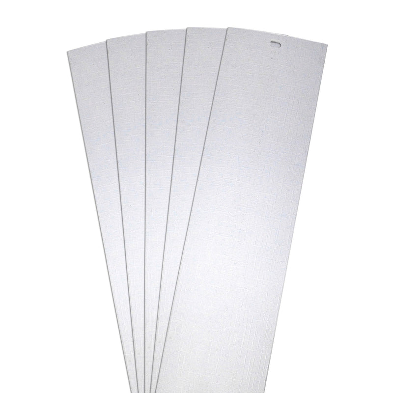 "DALIX Lino Vertical Window Blinds Slats Replacement Parts White 5 Pack Blinds DALIX White 10.5"" Inches Height"