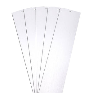 "DALIX Rustic Vertical Blinds Window Slats Replacement Set White 5 Pack Blinds DALIX White 10.5"" Inches Height"