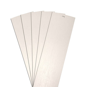 "DALIX Rustic Vertical Blinds Window Slats Replacement Set Ivory 5 Pack Blinds DALIX Ivory 10.5"" Inches Height"