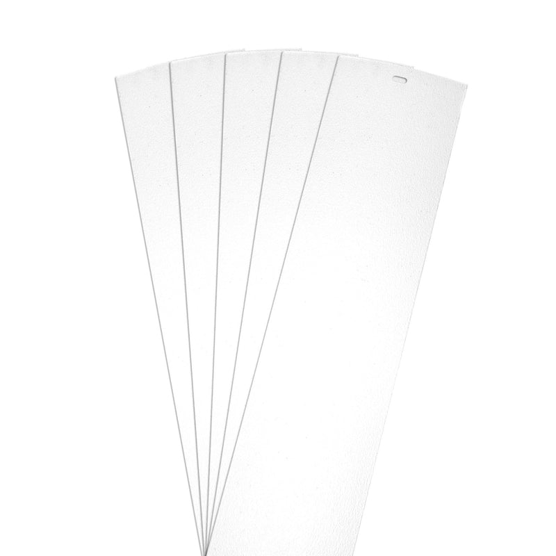 "DALIX Sand Blast Premium Vertical Window Blinds Slats White 5 Pack Blinds DALIX White 10.5"" Inches Height"