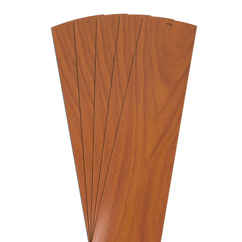 DALIX Wood Grain Vinyl Vertical Window Blinds Replacements Pecan 5 Pack Blinds DALIX Pecan 10.5