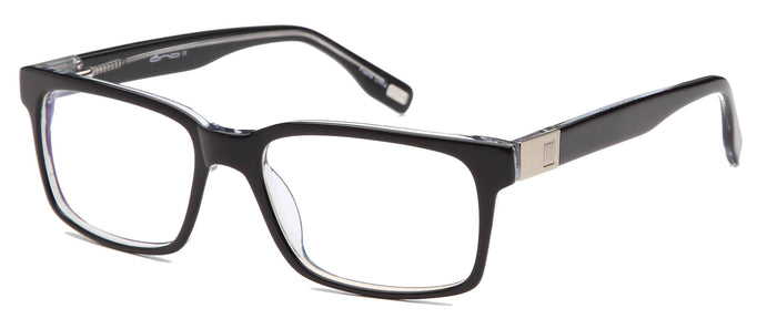 DALIX Mens Strong Square Glasses Frames Prescription Eyeglasses Rxable 55-18-145-37 Eyewear DALIX Black