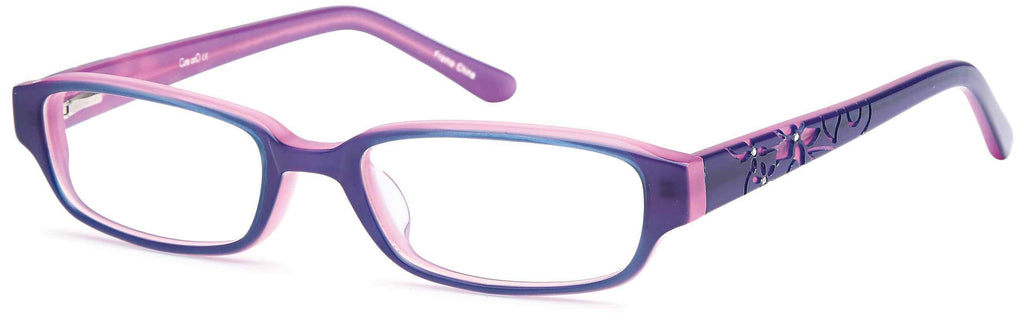 DALIX Childrens Girls Prescription Eyeglasses Frames in Black 47-17-130 Eyewear DALIX Purple