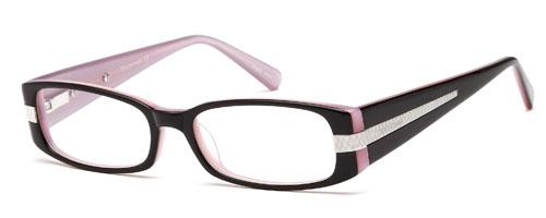 DALIX Women's Round Glasses Frames Prescription Eyeglasses Size 51-16-137 Eyewear DALIX Pink Black