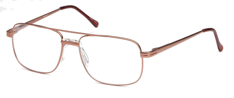 DALIX Mens Large Aviator Prescribable Eyeglasses Frames 58-17-150 Copper Gold Eyewear DALIX Copper