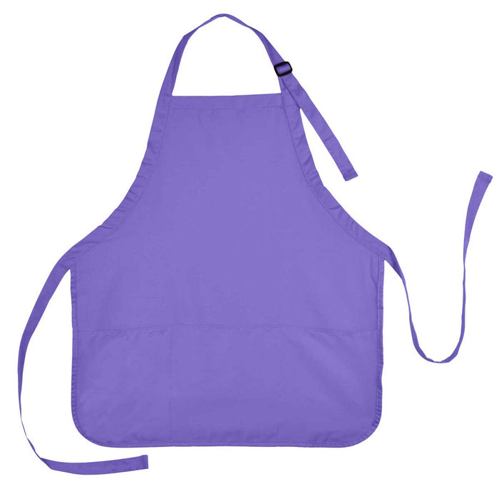 DALIX Apron Commercial Restaurant Home Bib Spun Poly Cotton Kitchen Aprons (3 Pockets)