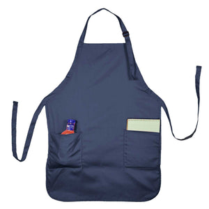 DALIX Apron Commercial Restaurant Home Bib Spun Poly Cotton Kitchen Aprons (2 Pockets)