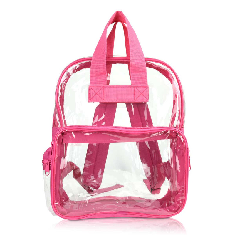 DALIX Clear Backpack Bags Smooth Plastic Transparent See Through
