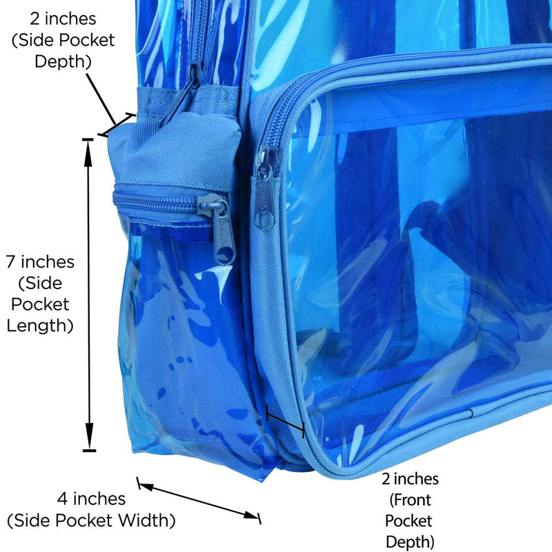DALIX Small Neon Clear Backpacks