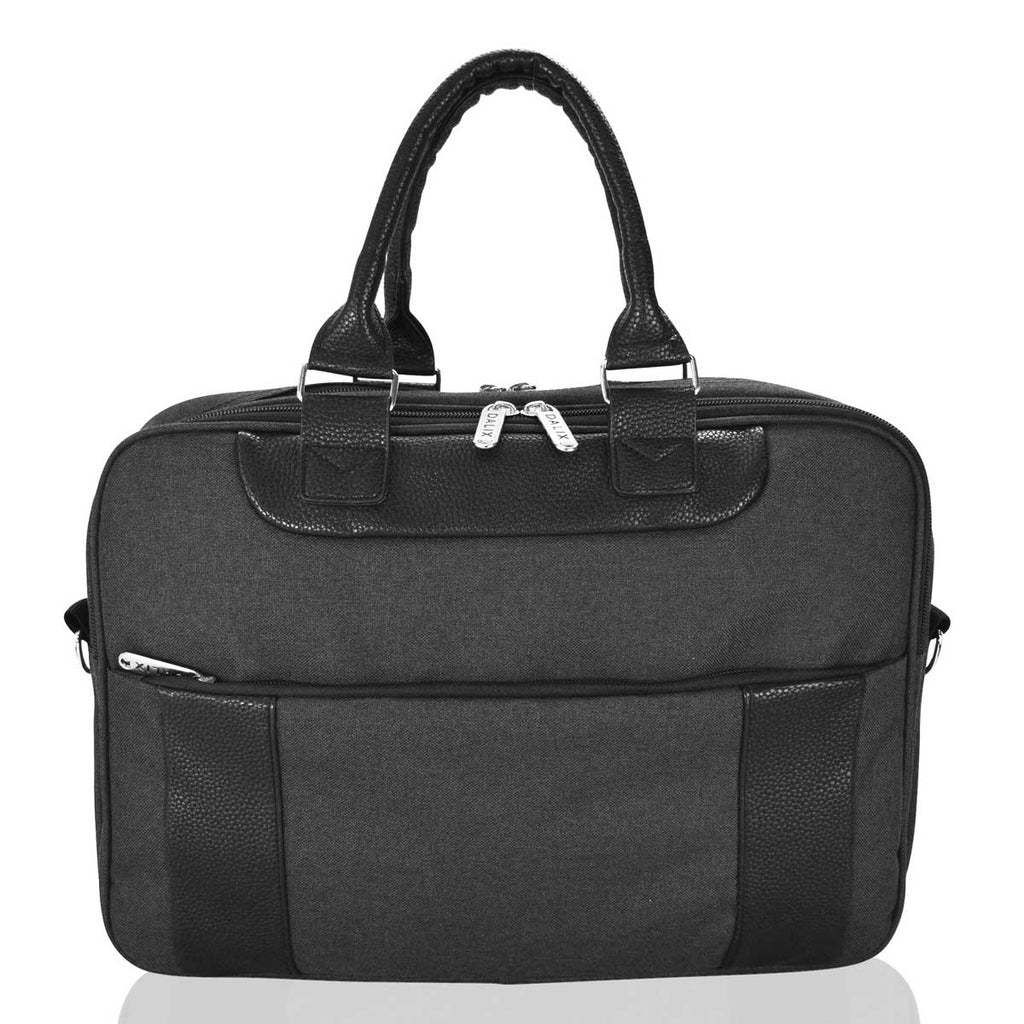 DALIX Mens Messenger Bag Travel Briefcase for Business Work Carry On in Black