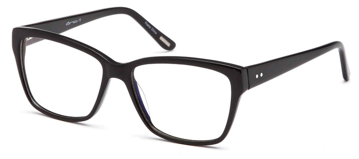 DALIX Womens Square Glasses Frames Prescription Eyeglasses 54-17-142 Eyewear DALIX Black