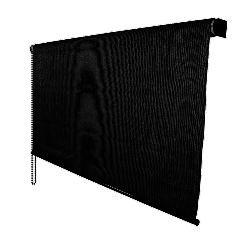 DALIX Outdoor Roller Shade Exterior Roll-Up Sun Shade Patio Outdoor Ready Made 72 x 72 in Black Home & Outdoor DALIX