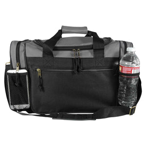 "DALIX 17"" Duffel Bag Dual Front Mesh Accessories Pockets"
