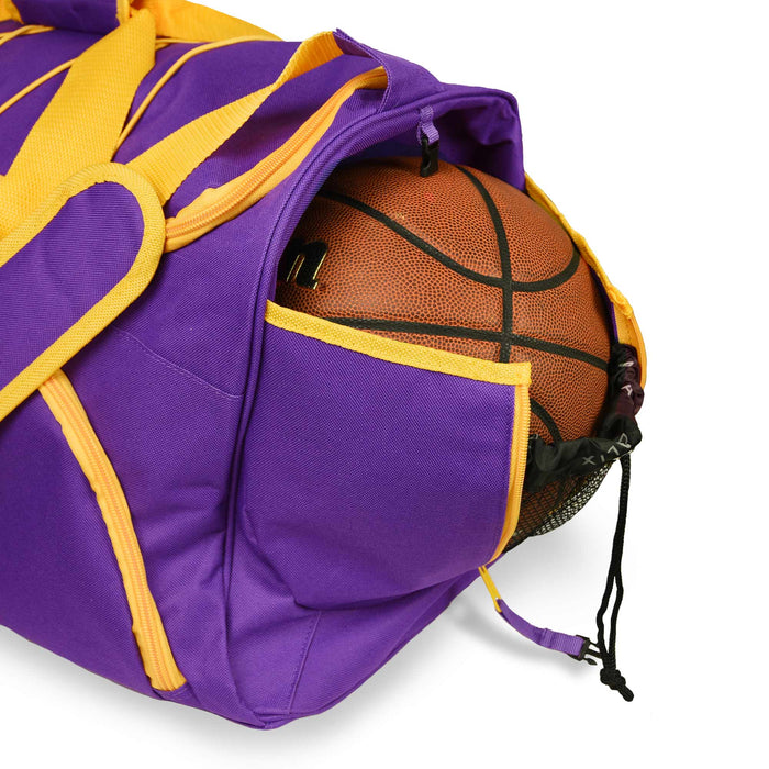"DALIX 24"" Basketball Duffel Bag Sports Shoe Ball Holder w Shoulder Strap"