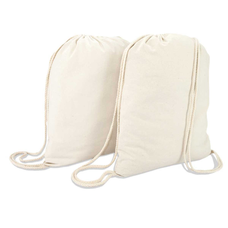 DALIX Canvas Drawstring Bag Backpack (2 Pack)