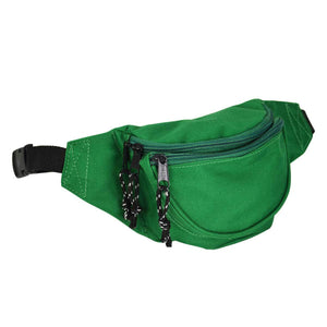 DALIX Fanny Pack w/ 3 Pockets Traveling Concealment Pouch Airport Money Bag FP-001 Fanny Packs DALIX Green