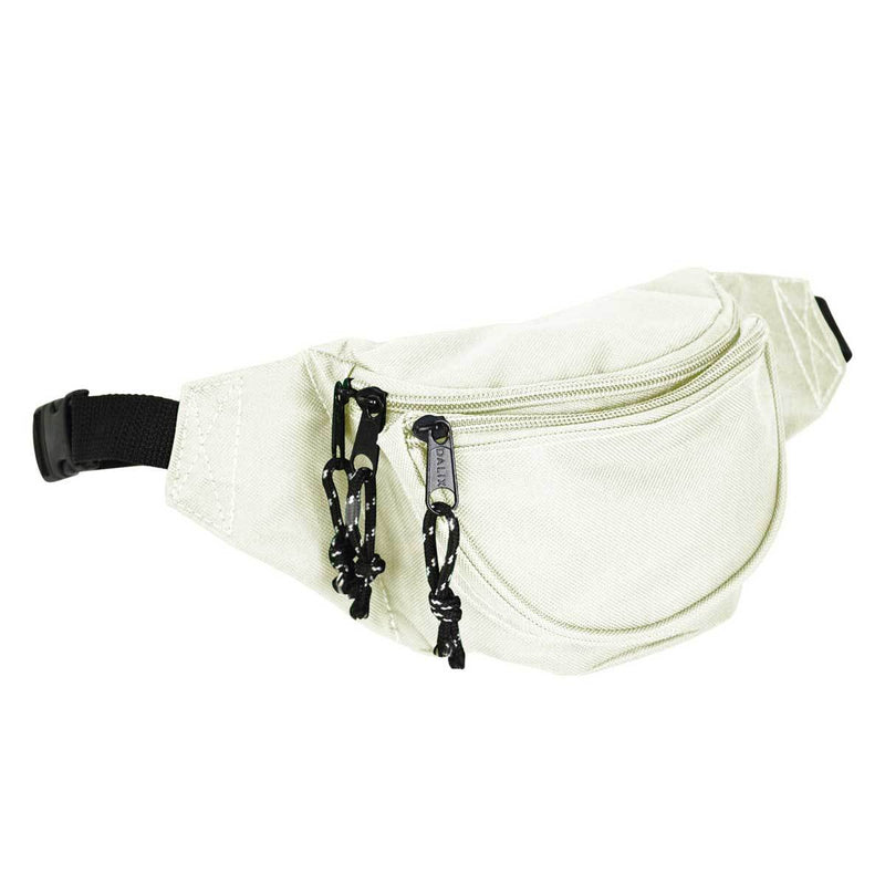 DALIX Fanny Pack w/ 3 Pockets Traveling Concealment Pouch Airport Money Bag FP-001 Fanny Packs DALIX Nude