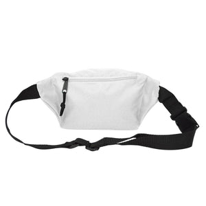 "DALIX Fanny Pack 7"" Travel Belt Pouch Waist Wallet Bag w/ 3 Pockets FP-002 Fanny Packs DALIX"