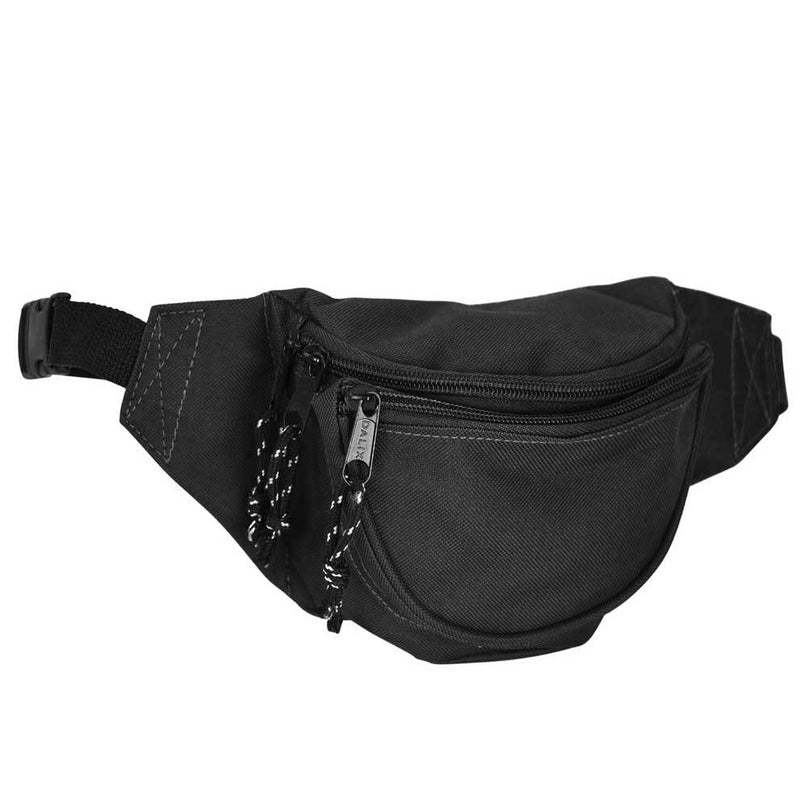 "DALIX Small Fanny Pack Waist Pouch Travel Belt (24""-31"") Fanny Packs DALIX Black"