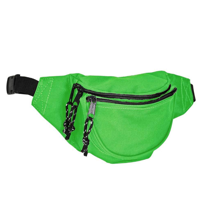"DALIX Small Fanny Pack Waist Pouch Travel Belt (24""-31"") Fanny Packs DALIX Lime Green"