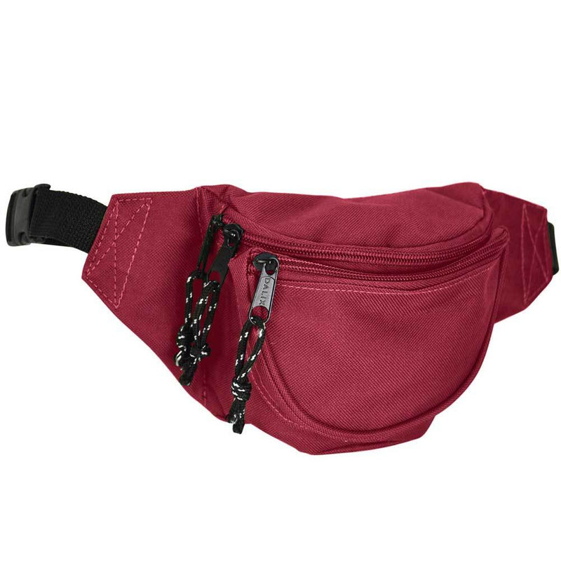 "DALIX Small Fanny Pack Waist Pouch Travel Belt (24""-31"") Fanny Packs DALIX Maroon"